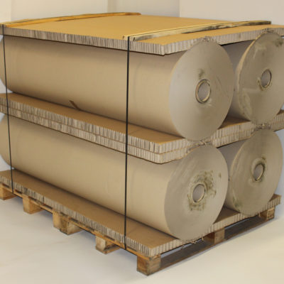Industrial half finished goods protection such as rolls and reels